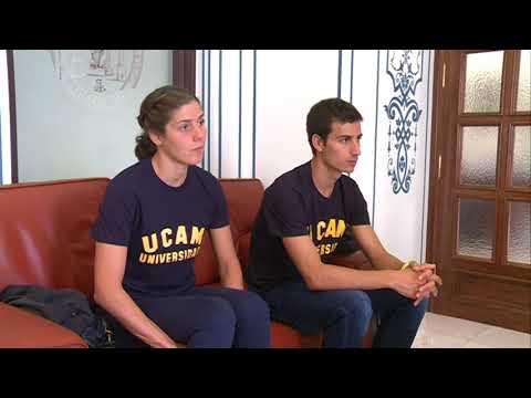03/10/2017 Los triatletas Mario Mola y Carol Routier han visitado la UCAM