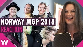 Norway MGP 2018 | Reaction to the 10 finalists