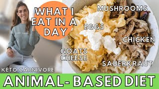 What I Eat in a Day ANIMAL BASED DIET (CARNIVORE-ISH) | Grocery Haul + Overcomplicating Nutrition