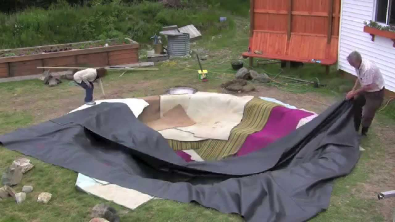 Installing A Pond Liner Youtube