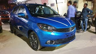 Taking Delivery of Tata Tiago Striker Blue in Night|Key Handover,Exterior,Interior&Driving Video