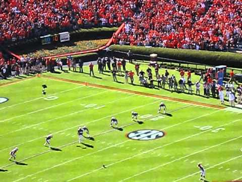 Auburn opening Kick against Arkansas