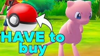 Mew LOCKED Behind Paywall - Pokemon Lets Go Pikachu & Eevee