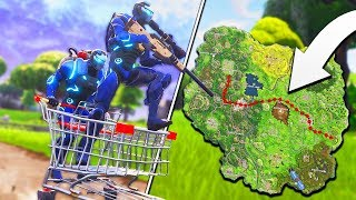 LONGEST CART TRIP! - NEW Vehicle in Fortnite BR! Duos w/ Ali-A