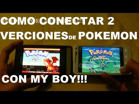 Como conectar 2 versiones de Pokemon con MY BOY!!!