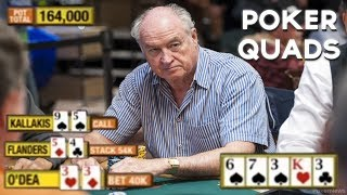 """Best Poker """"QUADS"""" - A Poker Four Of A Kind Video!"""