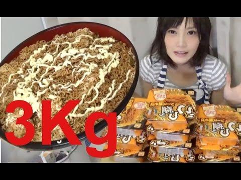 【大食い】カップやきそば3kg食べたい!【木下ゆうか】