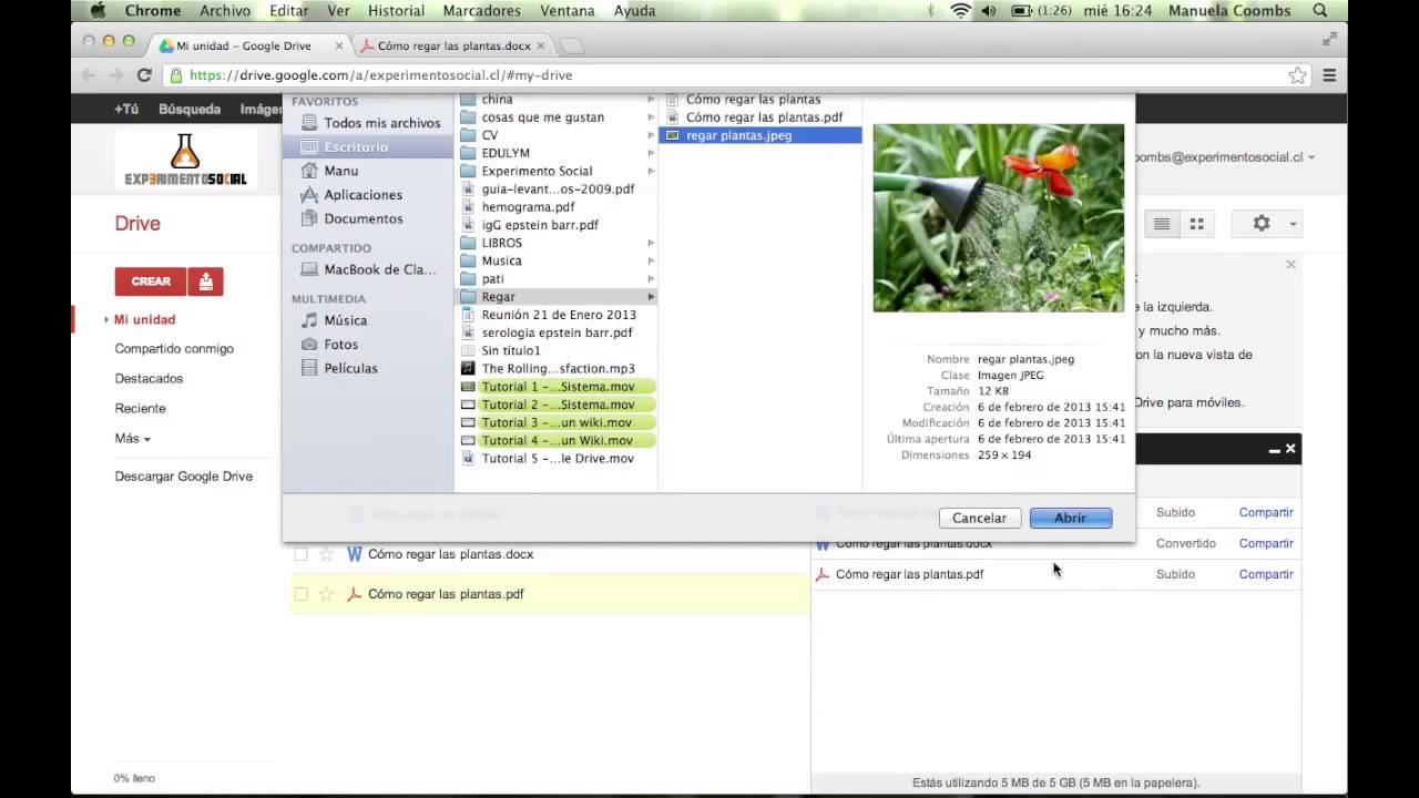 Tutorial 7 - Cómo subir archivos a google drive - YouTube