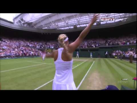 Maria Sharapova vs Angelique Kerber 4th Round Match Point