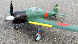 Maiden Flight - HSD Zero Fighter 1100MM RC Plane Japanese WWII Warbird