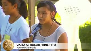 Niños del Hogar el Principito le cantan al Papa Francisco.