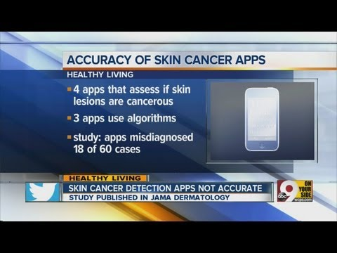 Skin cancer detection apps not accurate