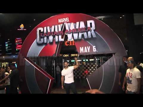 Varun Dhawan Hosted Special Screening Of Captain America Civil War