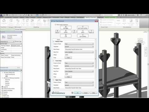 GRAITEC PowerPack for Autodesk Revit - View Sheet Generator Precast Elements