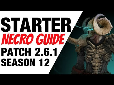 Patch 2.6.1 Necromancer Starter Build Guide Season 12 Diablo 3 thumbnail