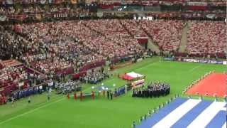 EURO 2012: Polska - Grecja - Hymny i prezentacja Polaków / National Anthems of Poland and Greece