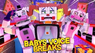 Minecraft Fnaf: Sister Location - Circus Babys Voice Breaks (Minecraft Roleplay)