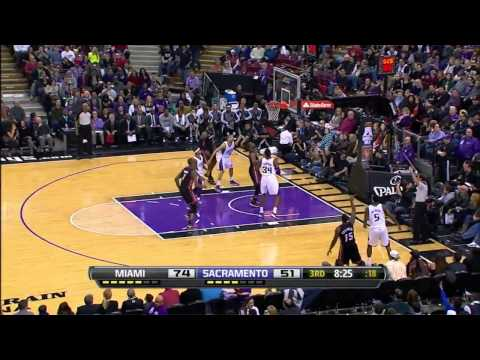Mario Chalmers career high 34 points (10 3 pointers) vs Kings full highlights 01/12/2013 HD