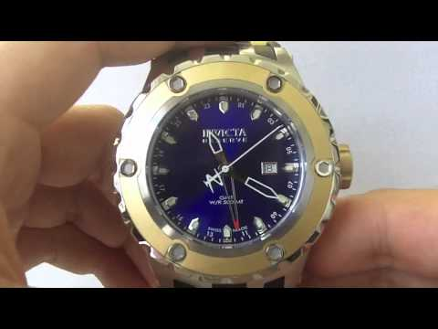 Invicta Watches - Men's 6179 Subaqua Specialty Reserve Collection GMT 18K Gold Swiss Made Watch