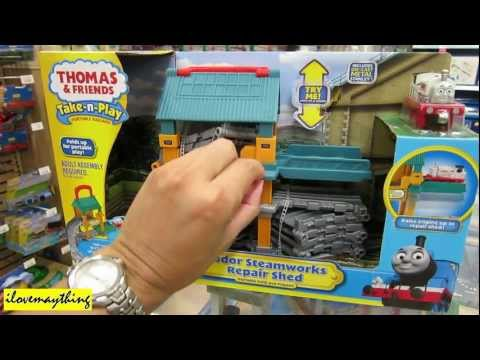 Sodor Steamworks Repair Shed and Tote-a-Train playbox (Thomas & Friends)