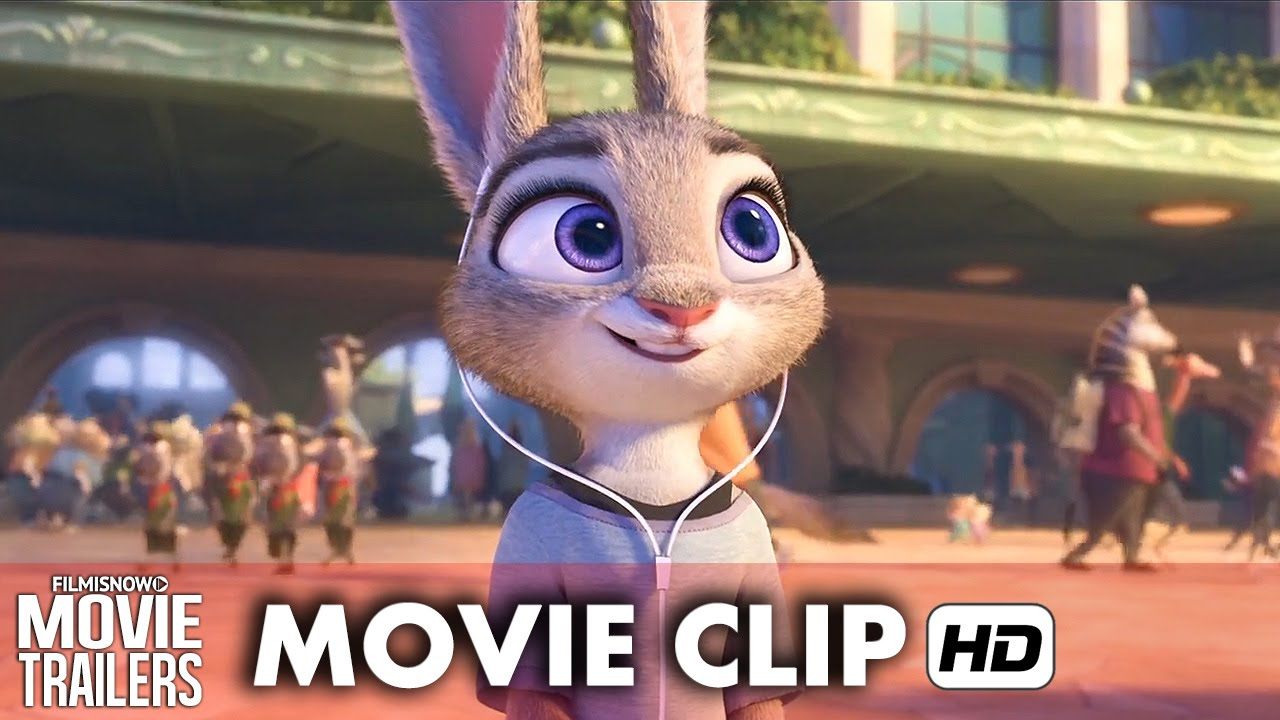"""Judy arrives in Zootopia"" in a new clip from ZOOTOPIA - Disney Animation [HD]"