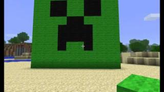 How to make a creeper face in minecraft 02 32