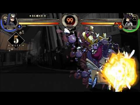 Skullgirls tutorial: Basic Combos Character Double