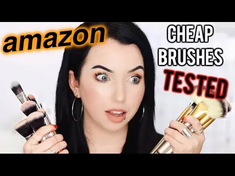 AMAZON MAKEUP BRUSHES TESTED! Full Face Using Affordable Brush Sets