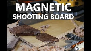 All in One 45 & 90 Degree Shooting Board,  Magnetic Saw Guide and Plane Stop