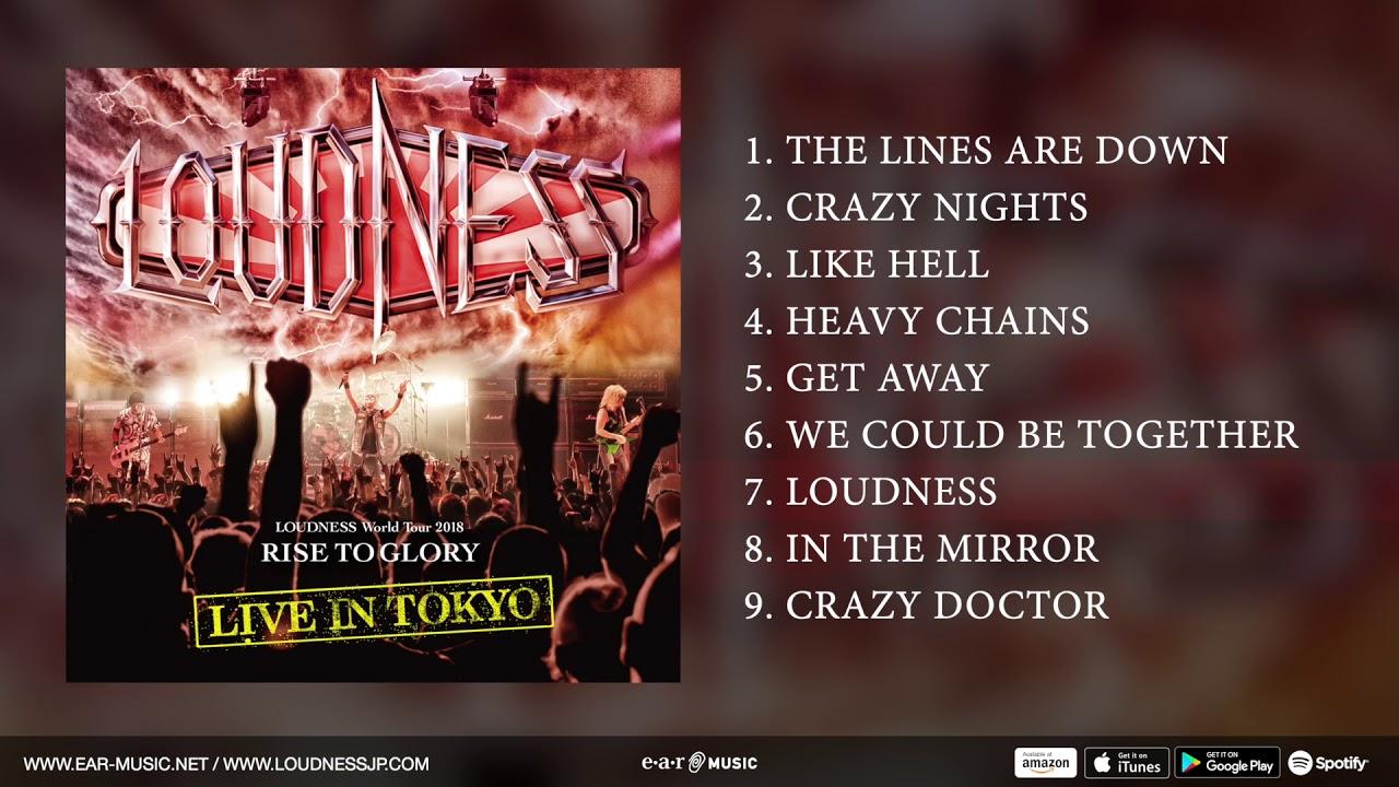 LOUDNESS - 収録各曲の一部が試聴できる「Official CD 1 Pre-Listening」を公開 新譜「Live In Tokyo」2CD+DVD 2019年5月17日発売予定 thm Music info Clip
