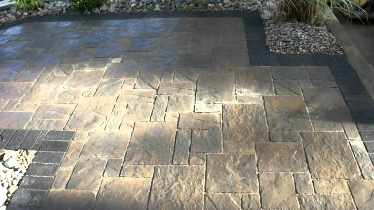 Avante Ashlar Patio Jet Black Granite Steps Complete