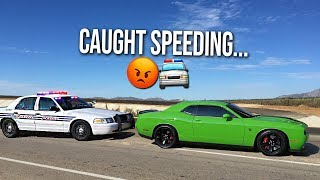 ME & TALL GUY CAR REVIEWS PULLED OVER BY THE POLICE IN THE HELLCAT!!