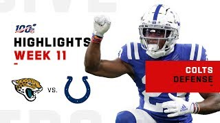 Colts Rack Up 3 Turnovers vs. Jaguars | NFL 2019 Highlights