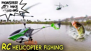 RC Helicopter Catches Fish | Monster Mike