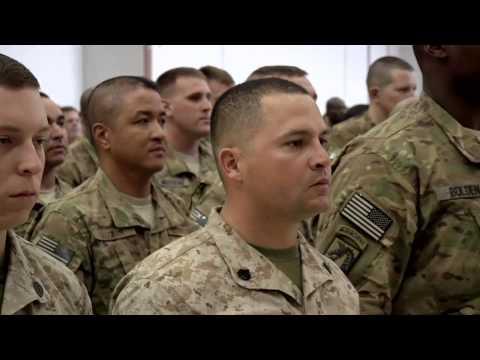 100 Service Members Reenlist in Bagram Air Field, Afghanistan on July 4th