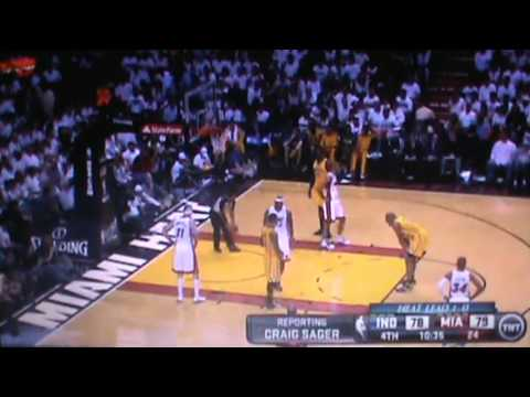 Indiana Pacers Vs Miami Heat Full 4th Quarter Part 1 NBA Eastern Conference Finals 2013 Game 2