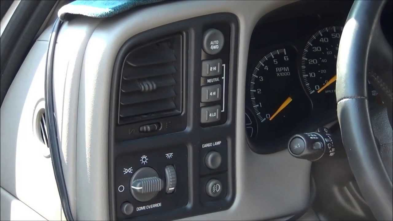 2014 Chevy Tahoe >> 2000 Chevy Silverado 4WD transfer case switch repair - YouTube