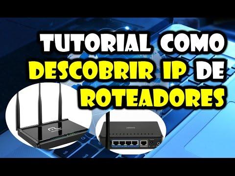 tutorial como descobrir ip do roteador