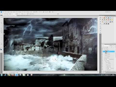 Stormy Coast Matte Painting // Speed Art //