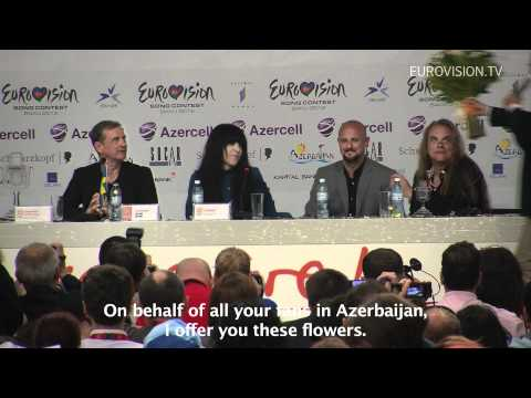 Press Conference by Loreen (Winner 2012 Eurovision Song Contest)
