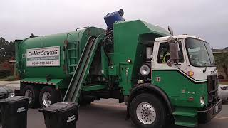 Calmet services trash truck #132 Autocar Asl part 3