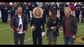 Little Big Town sings the National Anthem (College National Championship)