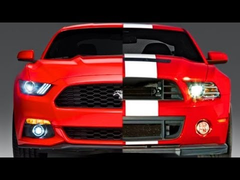 DESIGN Ford Mustang 2015 vs Ford Mustang 2014 - YouTube