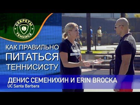 Денис Семенихин и Erin Broсka - правильное питание теннисиста (UC Santa Barbara)
