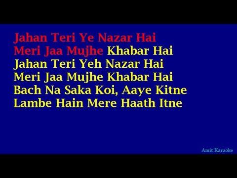 Jahan Teri Yeh Nazar Hai - Kishore Kumar Hindi Full Karaoke...