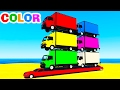 LEARN COLORS and Learn Numbers w Truck Cars Cartoon & Spiderman for Kids Learning Video