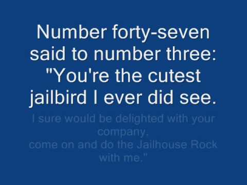 Elvis Presley Jailhouse Rock  Lyrics video