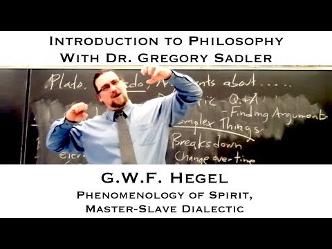 Intro to Philosophy, G.W.F. Hegel, Self-Consciousness and Ma