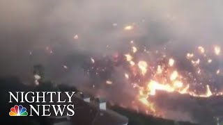 Record-Breaking Wildfires Ravaging California   NBC Nightly News