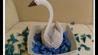 Origami 3d - Red Crowned Crane - How To Make